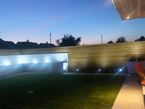 fencing installation and lightening - Cambridge landscaping
