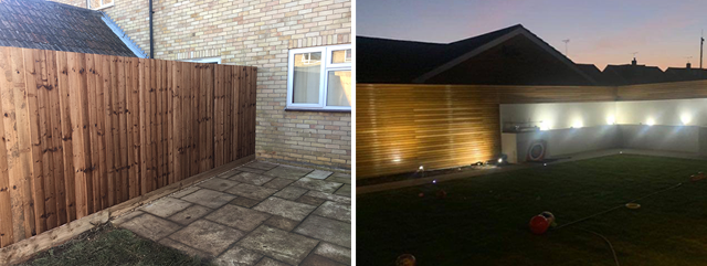 Panel fencing landscaping Cambridge