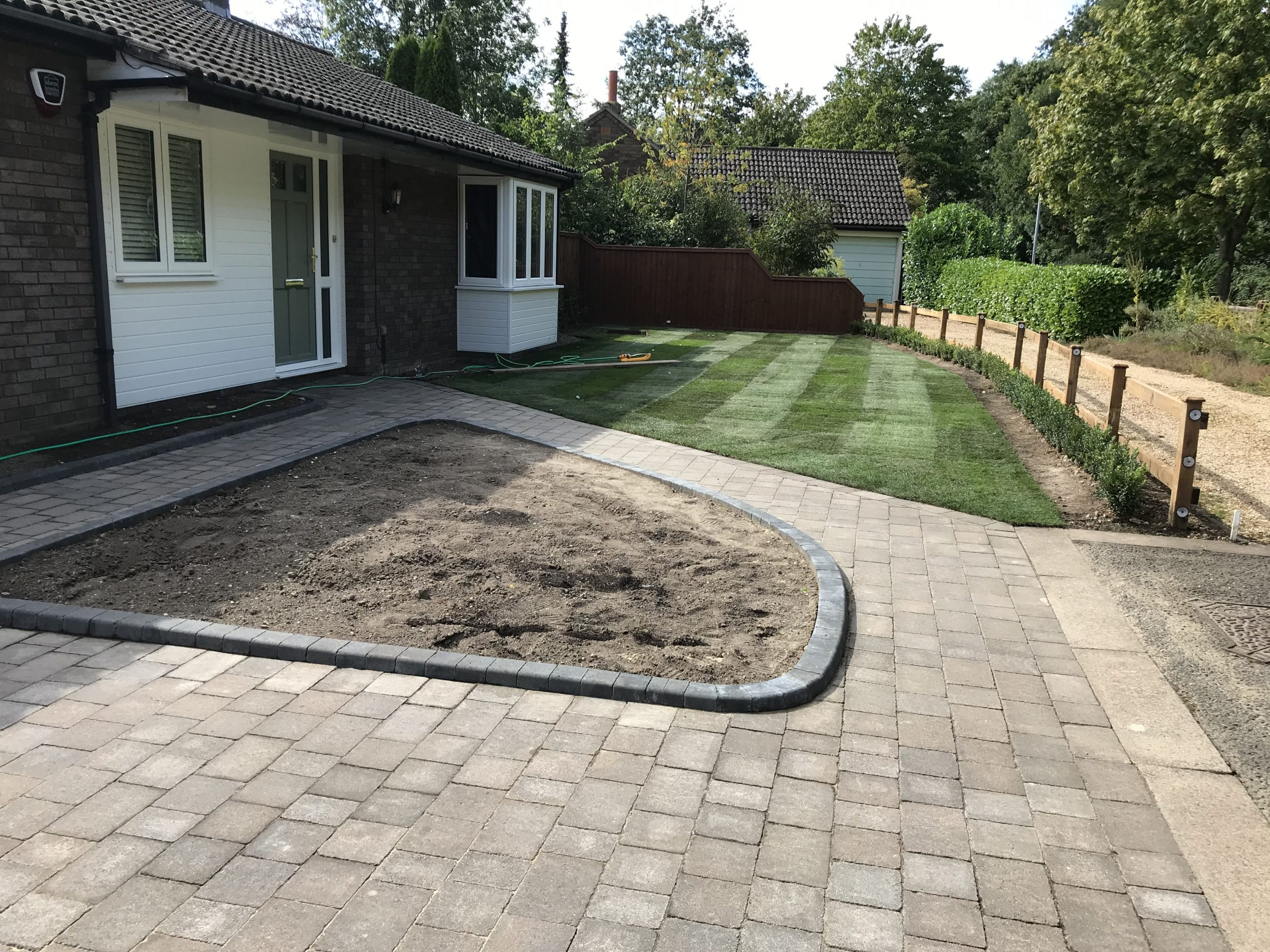Flower beds, Turf and Lawn laying services Cambridge