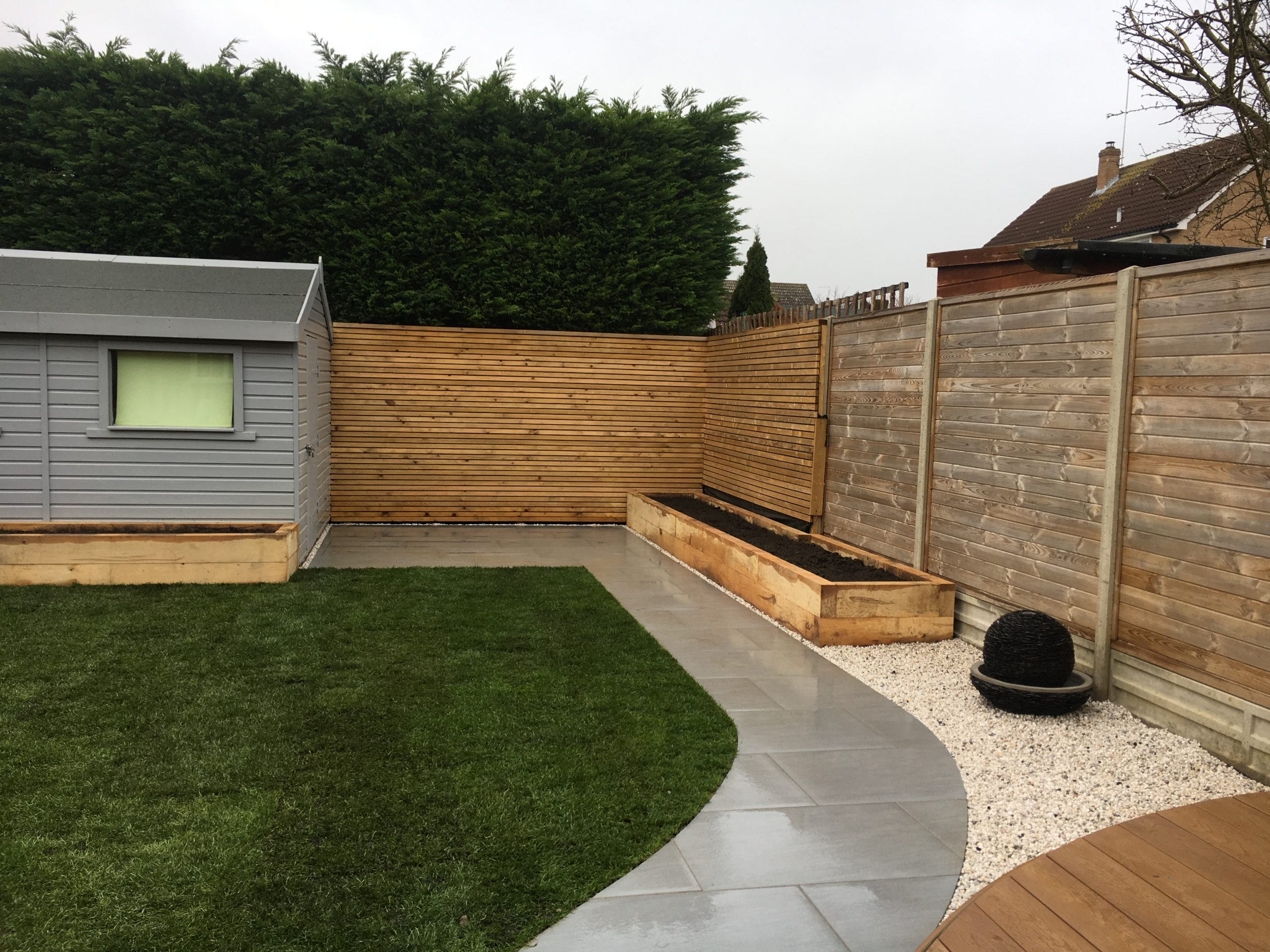 Landscaping Cambridge - Millboard decking and patio